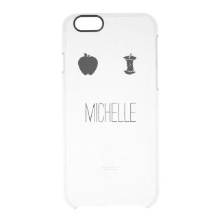 Simple Apple Eating Stages Name Clear Case