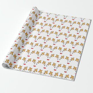Simple artwork inspired Rudolph red nosed reindeer Wrapping Paper