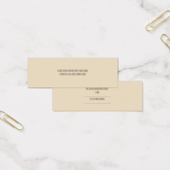 simple attorney at law justice business card
