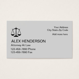 Simple Attorney Businesscards Business Card