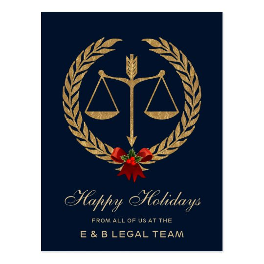 Simple Attorney Christmas Postcard