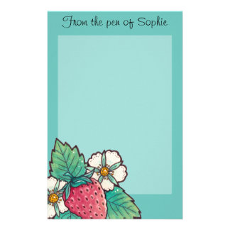 Simple Autumn / Fall Butterfly Personalized Stationery