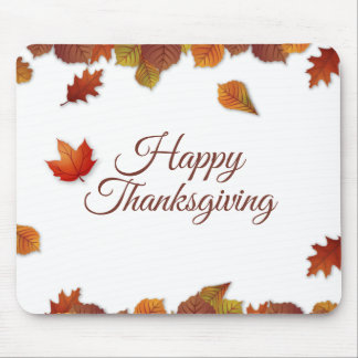 Simple Autumn Leaves Thanksgiving | Mousepad