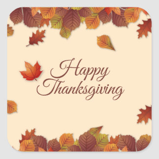 Simple Autumn Leaves Thanksgiving | Sticker Seal