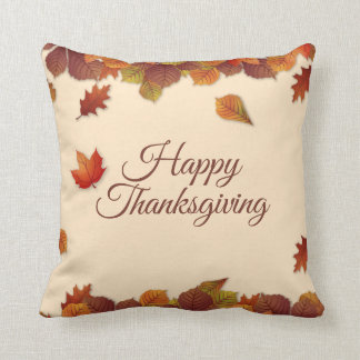 Simple Autumn Leaves Thanksgiving | Throw Pillow