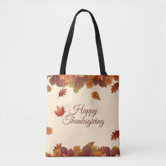 Simple Autumn Leaves Thanksgiving | Tote Bag