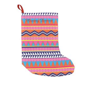 Simple Aztec Tribal Borders Small Christmas Stocking