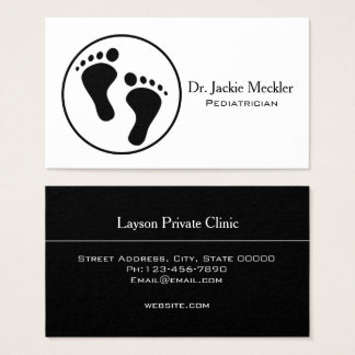 Simple Baby Feet Pediatric Business Card
