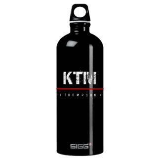 simple  basic black monogrammed water bottle