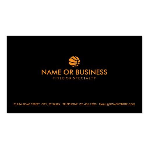 simple basketball business card templates