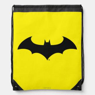 Simple Bat Silhouette Drawstring Backpack