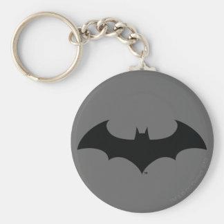 Simple Bat Silhouette Basic Round Button Key Ring