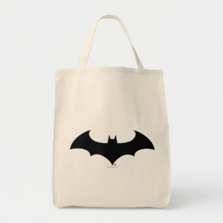 Simple Bat Silhouette Grocery Tote Bag