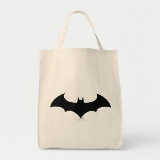 Simple Bat Silhouette Grocery Tote Bag