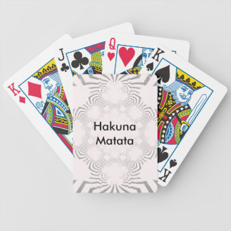 Simple Beautiful amazing soft white pattern design Bicycle Playing Cards