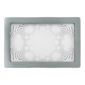Simple Beautiful amazing soft white pattern design Rectangular Belt Buckle