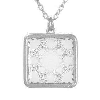 Simple Beautiful amazing soft white pattern design Silver Plated Necklace