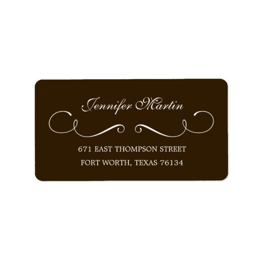 Simple Beauty Address Label (Grey)