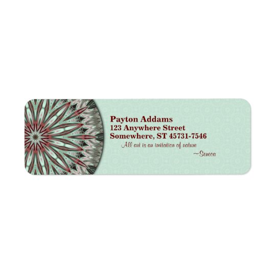Simple Beauty Mandala - Return Address  Label Return Address Label