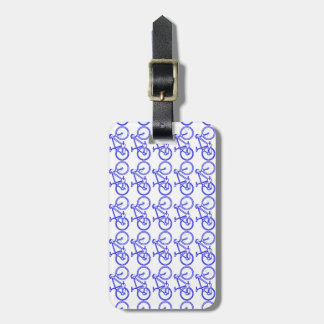 simple bike pattern luggage tag