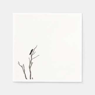 Simple Bird on a Branch | Napkin Paper Napkins