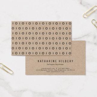 Simple Black 01 Pattern Kraft Paper Business Card
