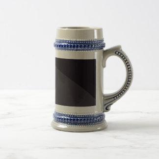 Simple Black Abstract Art Beer Steins