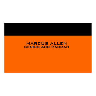 Simple Black and Orange Pack Of Standard Business Cards