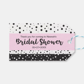 Simple Black and White, Bridal Shower Gift Tags