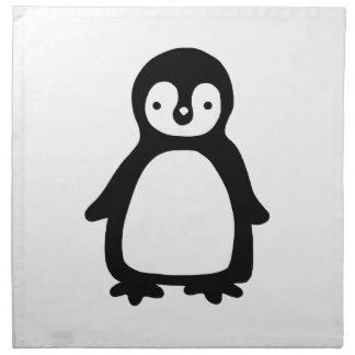Simple black and white pinguin napkin