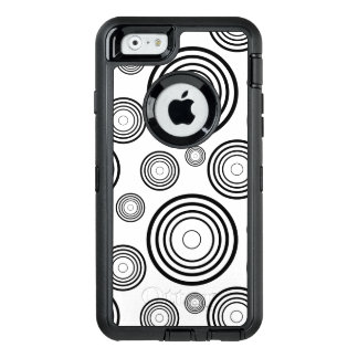 Simple Black and White Rings OtterBox Defender iPhone Case