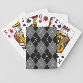 Simple Black Argyle Design | Playing Cards
