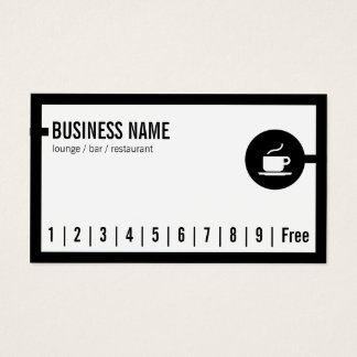 Simple Black Border Lounge Bar Loyalty Card