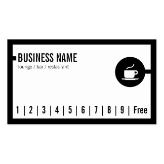 Simple Black Border Lounge Bar Loyalty Card Pack Of Standard Business Cards