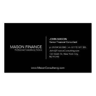 Simple Black Customizable Business Card Template