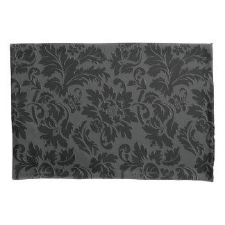 Simple Black Damask Pattern Pillowcase