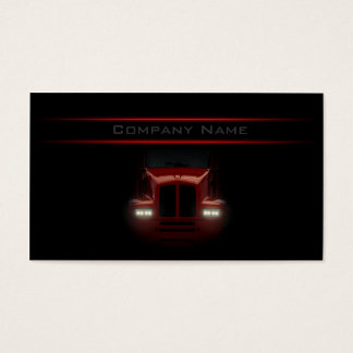 Simple Black Design Red Truck Front Card