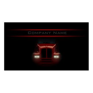 Simple Black Design Red Truck Front Card Pack Of Standard Business Cards