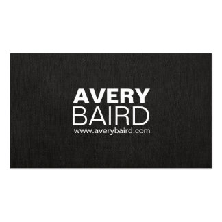 Simple Black Faux Linen Professional Pack Of Standard Business Cards