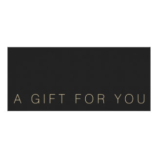Simple Black  Gift Certificate