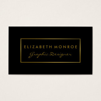 Simple Black & Gold Foil Effect Business Card