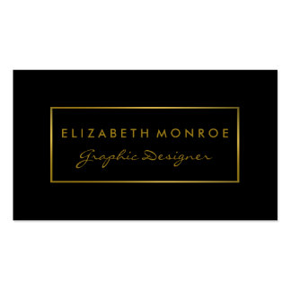 Simple Black & Gold Foil Effect Pack Of Standard Business Cards