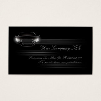 Simple Black Luxury Car Company Business Card QR