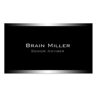Simple Black Modern Professional Pack Of Standard Business Cards
