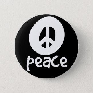 Simple Black Peace Sign 6 Cm Round Badge