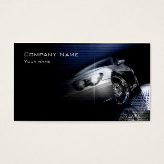Simple Black Perspective Car Front Lamp Card