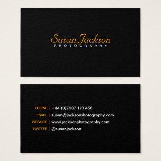 Simple Black Photographer Business Card