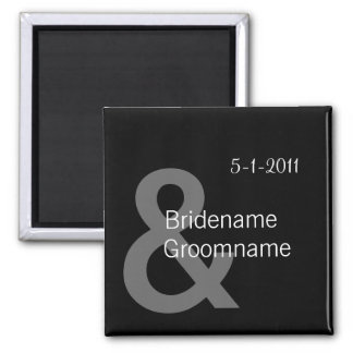 Simple Black Save The Date Magnets