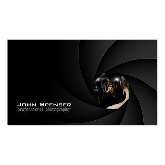Simple Black The Lens Focus Photographer Card Pack Of Standard Business Cards