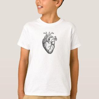 Simple Black White Anatomy Heart Illustration T-Shirt